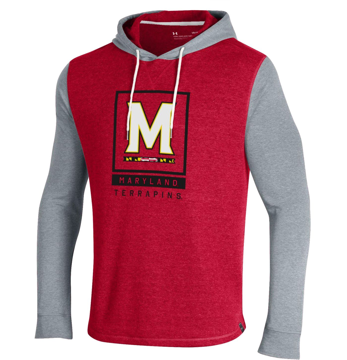 Under Amour Men's Maryland Terrapins Red Waffle Pullover Hoodie