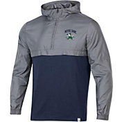 Under Armour Men's Notre Dame Fighting Irish Grey Sportstyle Woven Quarter-Zip Jacket
