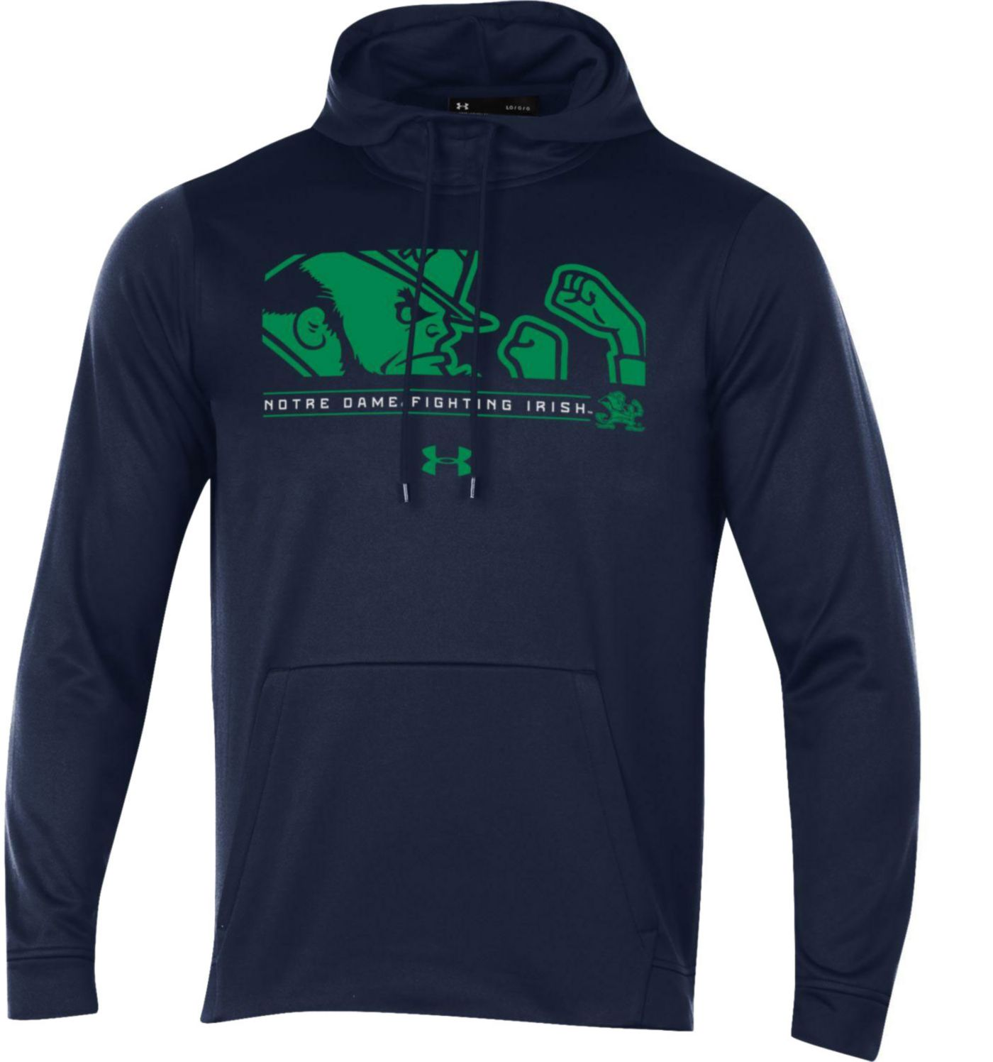 Under Armour Men's Notre Dame Fighting Irish Navy Armourfleece Pullover Hoodie
