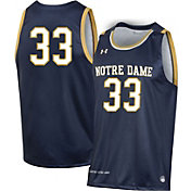 Under Armour Men's Notre Dame Fighting Irish #33 Navy Replica Basketball Jersey