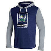 Under Amour Men's Notre Dame Fighting Irish Navy Waffle Pullover Hoodie