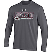 Under Armour Men's New Mexico State Aggies Grey Performance Cotton Long Sleeve T-Shirt