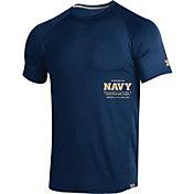 Under Armour Men's Navy Midshipmen Navy Coordinates MK1 Sideline T-Shirt