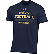 Under Armour Men's Navy Midshipmen Navy Performance Cotton Sideline Football T-Shirt