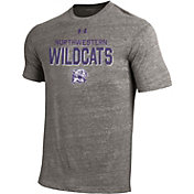 Under Armour Men's Northwestern Wildcats Grey Tri-Blend Short Sleeve Performance T-Shirt