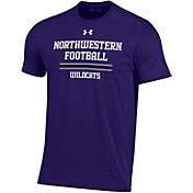 Under Armour Men's Northwestern Wildcats Purple Performance Cotton Sideline Football T-Shirt