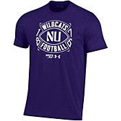 Under Armour Men's Northwestern Wildcats Purple 'CFB150' Performance Cotton Football T-Shirt