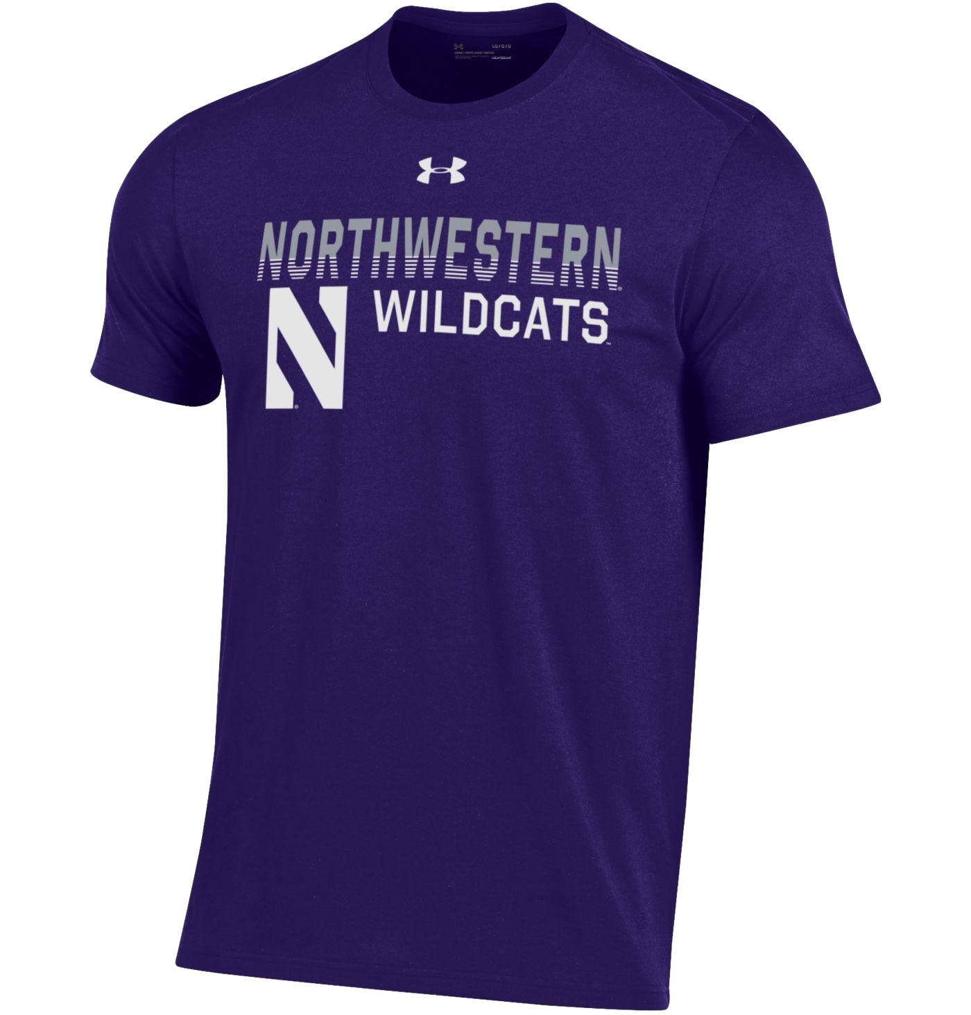 Under Armour Men's Northwestern Wildcats Purple Performance Cotton T-Shirt