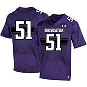 Under Armour Men's Northwestern Wildcats #51 Replica Football Black Jersey