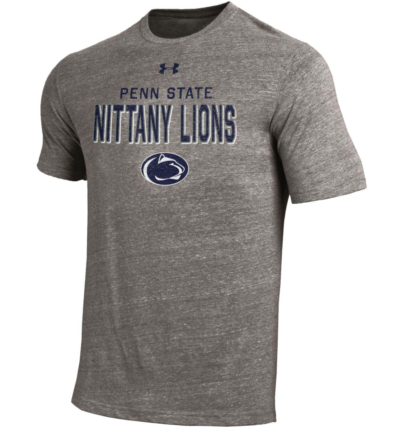 Under Armour Men's Penn State Nittany Lions Grey Tri-Blend Short Sleeve Performance T-Shirt