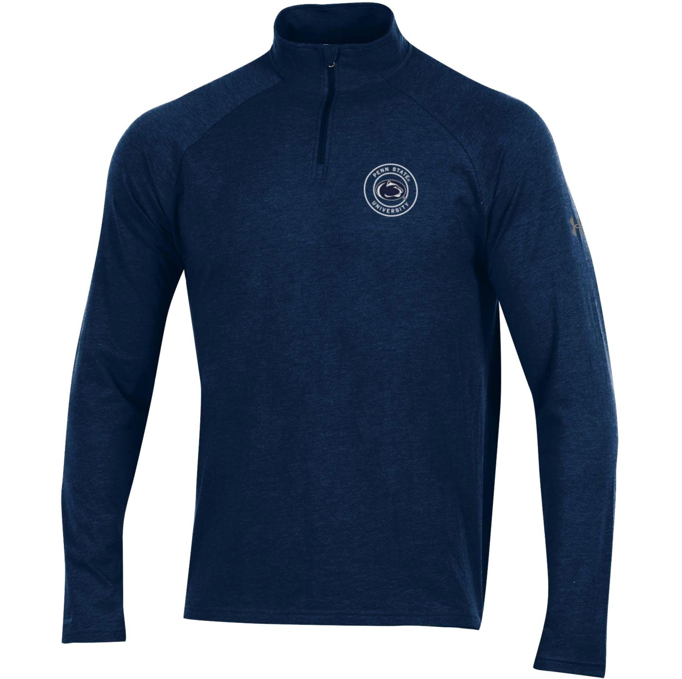 Under Armour Men's Penn State Nittany Lions Blue Charged Cotton Quarter-Zip Shirt