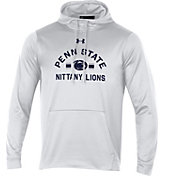 Under Armour Men's Penn State Nittany Lions Armourfleece Pullover White Hoodie