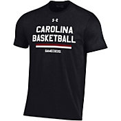 Under Armour Men's South Carolina Gamecocks Performance Cotton On-Court Basketball Black T-Shirt