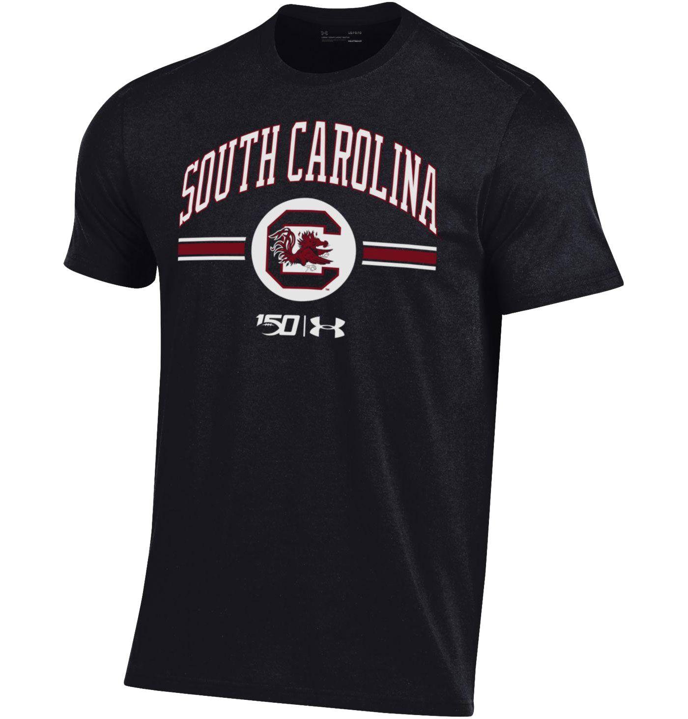 Under Armour Men's South Carolina Gamecocks 'CFB150' Performance Cotton Football Black T-Shirt