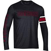 Under Armour Men's South Carolina Gamecocks Performance Cotton Long Sleeve Black T-Shirt