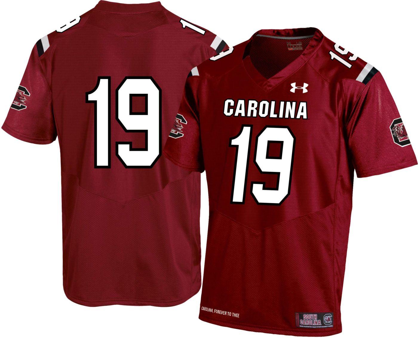 Under Armour Men's South Carolina Gamecocks #19 Garnet Replica Football Jersey