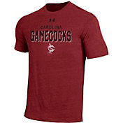 Under Armour Men's South Carolina Gamecocks Garnet Tri-Blend Short Sleeve Performance T-Shirt