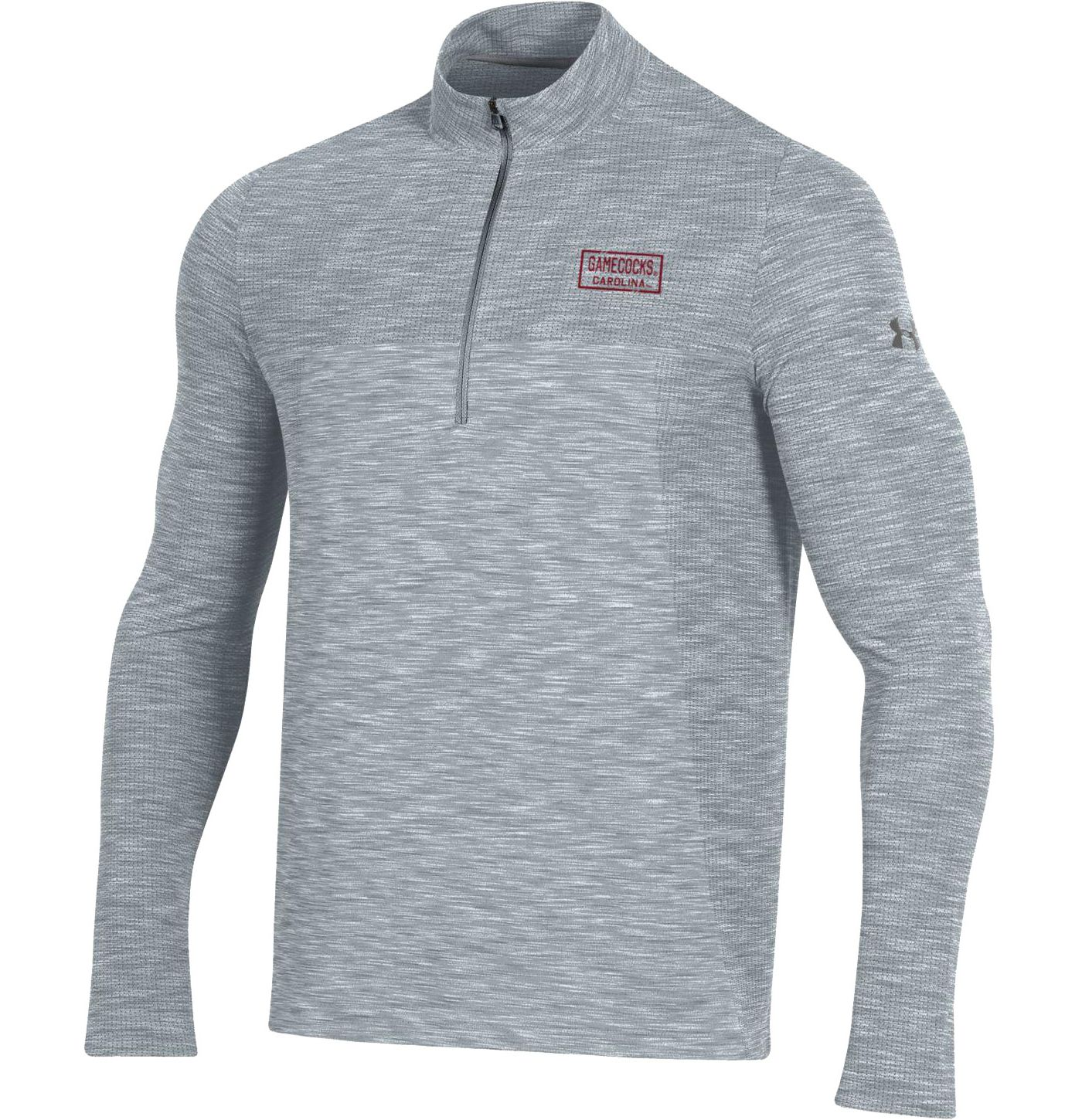 Under Armour Men's South Carolina Gamecocks Grey Vanish Quarter-Zip Shirt