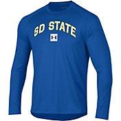 Under Armour Men's South Dakota State Jackrabbits Blue Long Sleeve Tech Performance T-Shirt