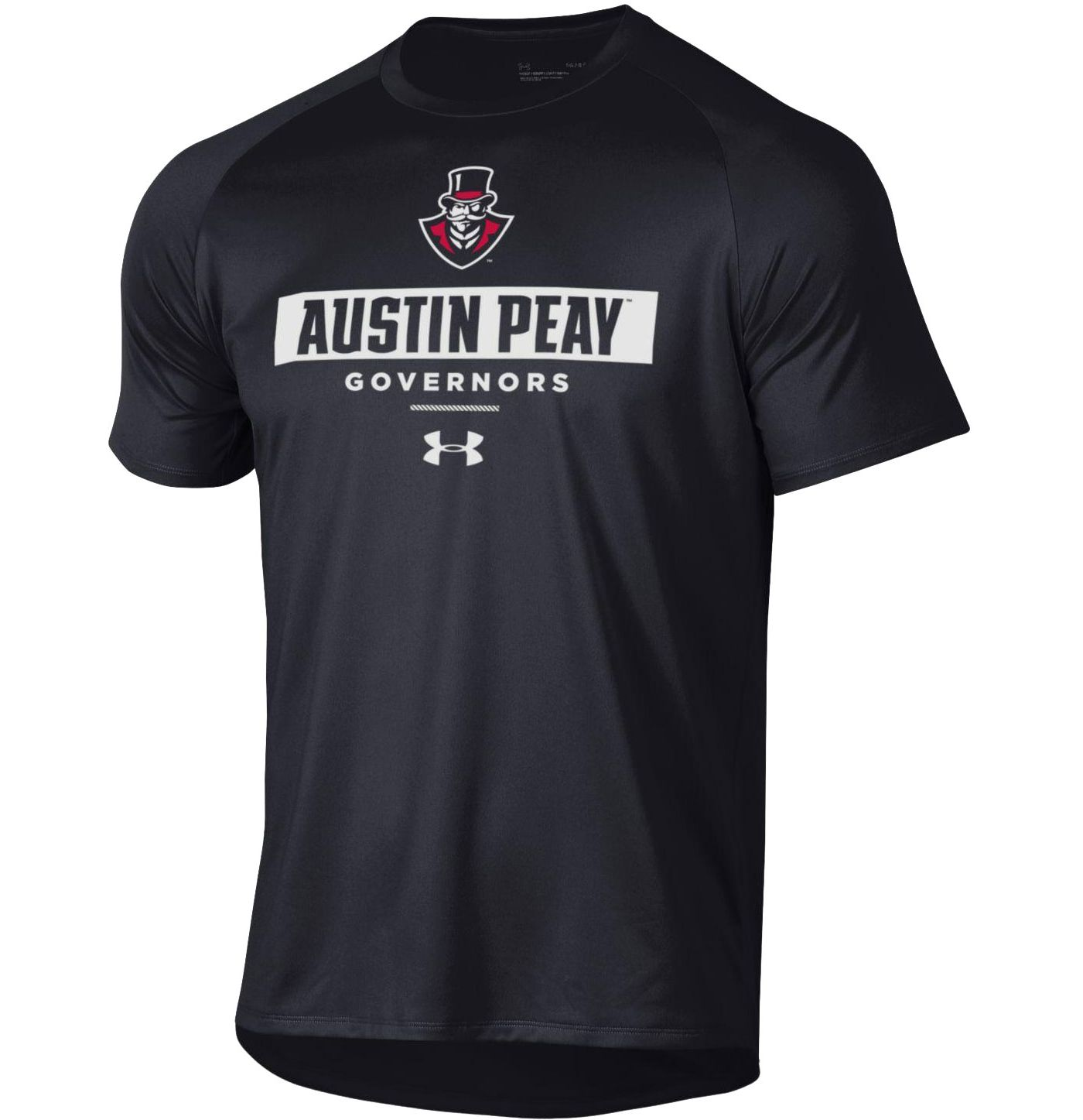 Under Armour Men's Austin Peay Governors Tech Performance Black T-Shirt