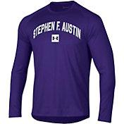 Under Armour Men's Stephen F. Austin Lumberjacks Purple Long Sleeve Tech Performance T-Shirt