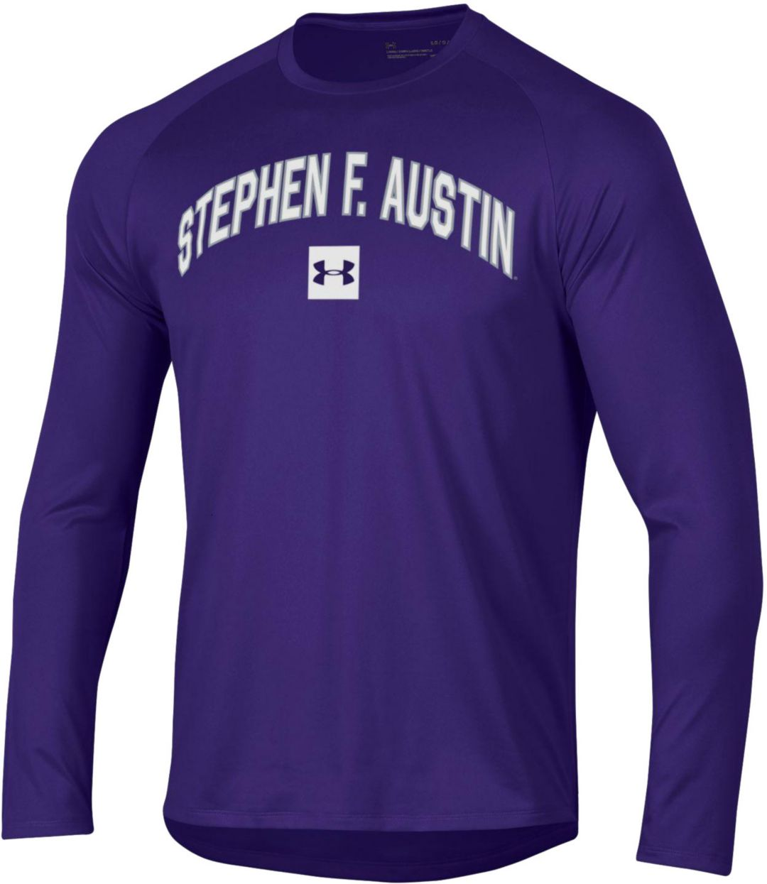 newest ffacd ddd93 Under Armour Men's Stephen F. Austin Lumberjacks Purple Long Sleeve Tech  Performance T-Shirt