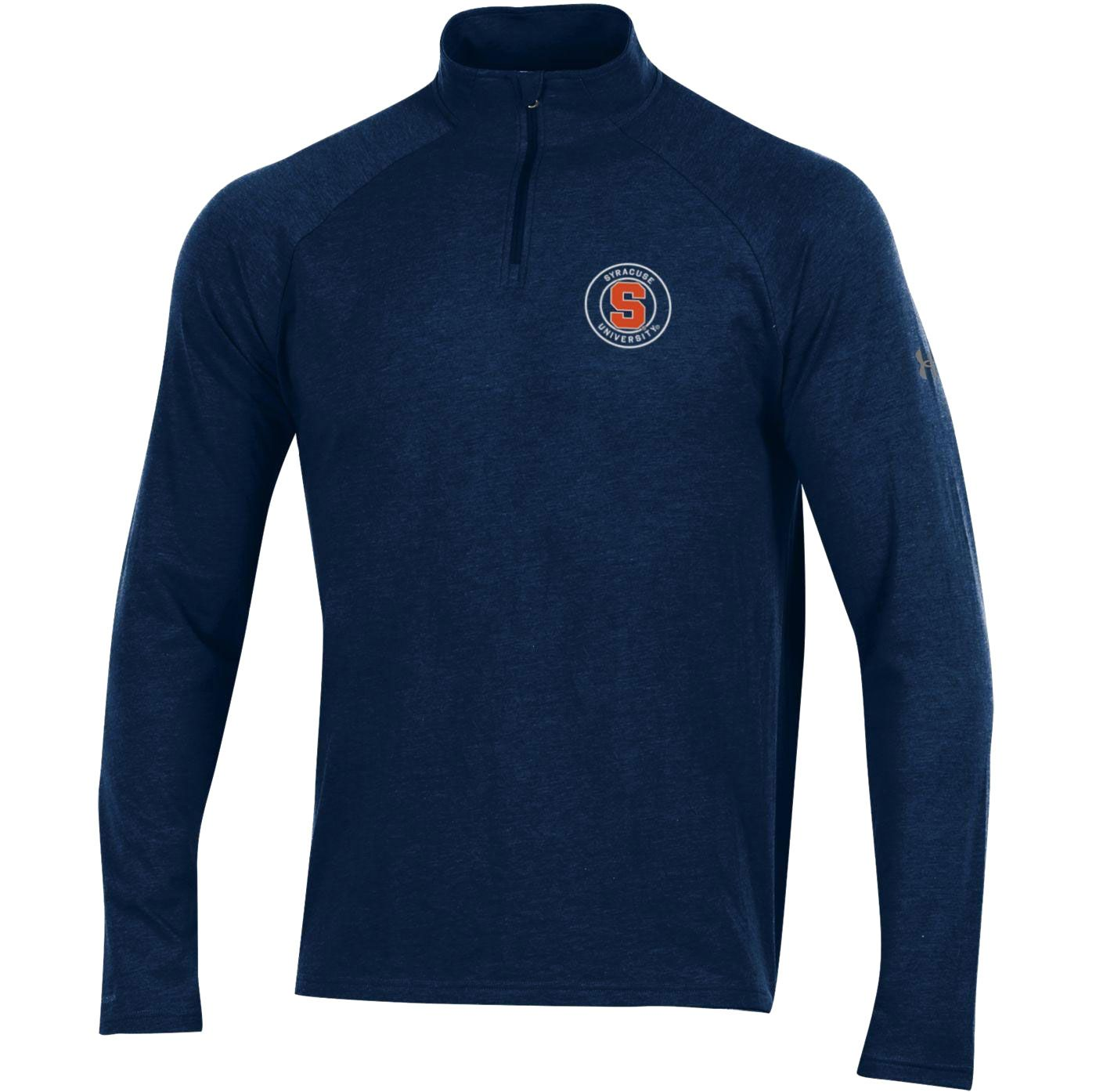 Under Armour Men's Syracuse Orange Blue Charged Cotton Quarter-Zip Shirt