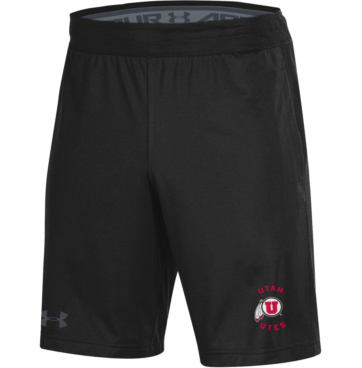 Under Armour Men's Utah Utes Raid Performance Black Shorts