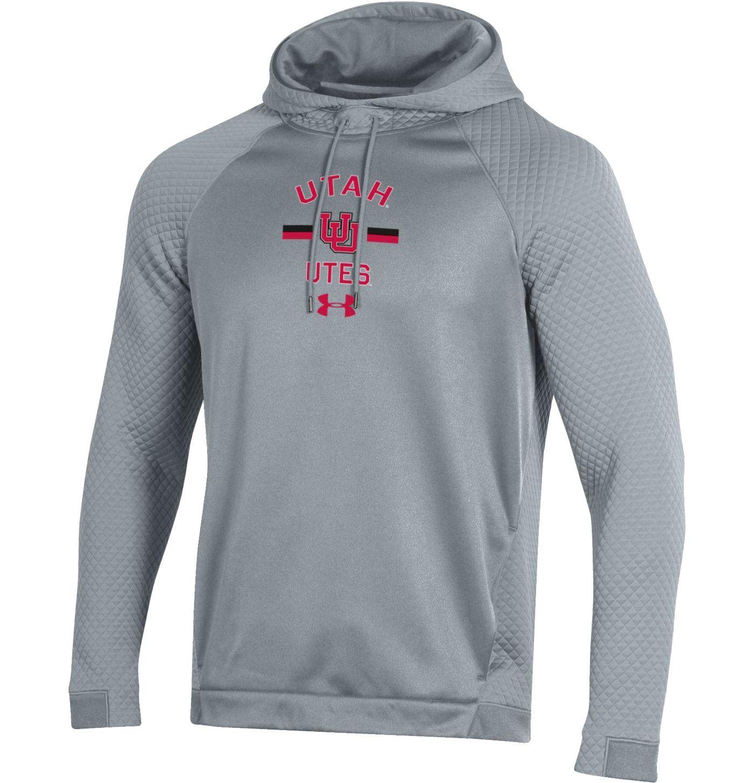 Under Armour Men's Utah Utes Grey HD Pullover Hoodie