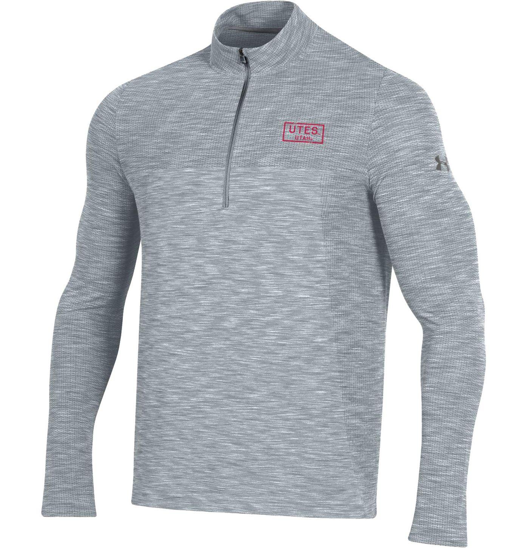 Under Armour Men's Utah Utes Grey Vanish Quarter-Zip Shirt