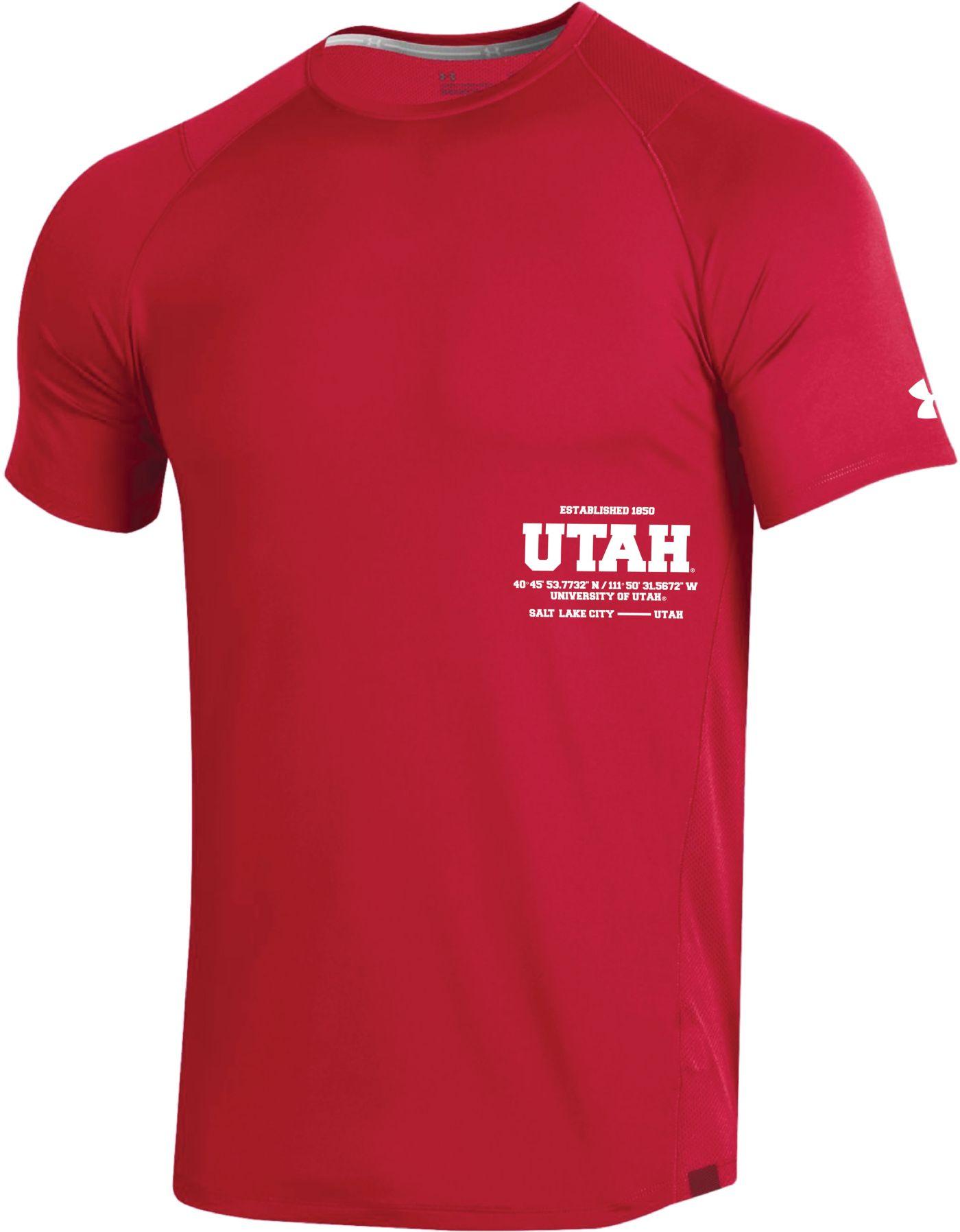 Under Armour Men's Utah Utes Crimson Coordinates MK1 Sideline T-Shirt