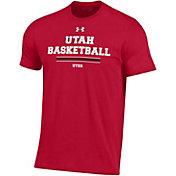 Under Armour Men's Utah Utes Crimson Performance Cotton On-Court Basketball T-Shirt