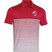 Under Armour Men's Utah Utes Crimson Pinnacle Performance Sideline Polo