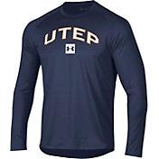 Under Armour Men's UTEP Miners Navy Long Sleeve Tech Performance T-Shirt