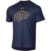Under Armour Men's UTEP Miners Navy Tech Performance T-Shirt