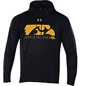 Under Armour Men's Iowa Hawkeyes Black Armourfleece Pullover Hoodie