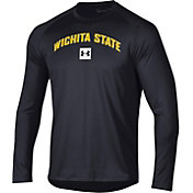 Under Armour Men's Wichita State Shockers Long Sleeve Tech Performance Black T-Shirt