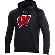 Under Armour Men's Wisconsin Badgers All Day Black Hoodie