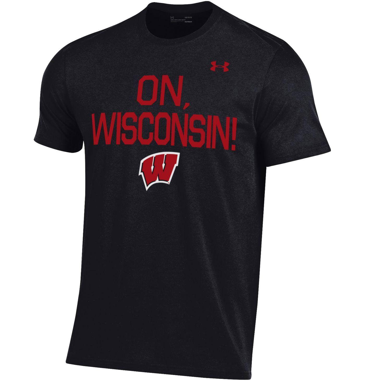 Under Armour Men's Wisconsin Badgers Black Performance Cotton T-Shirt