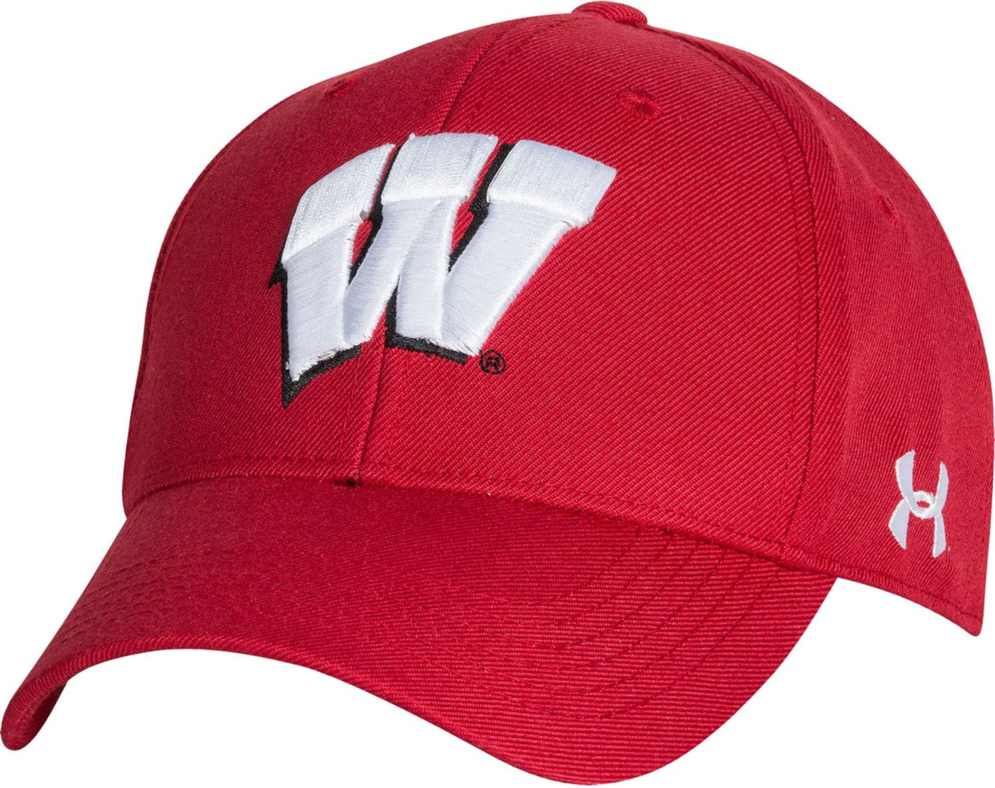 Under Armour Men's Wisconsin Badgers Red Adjustable Hat