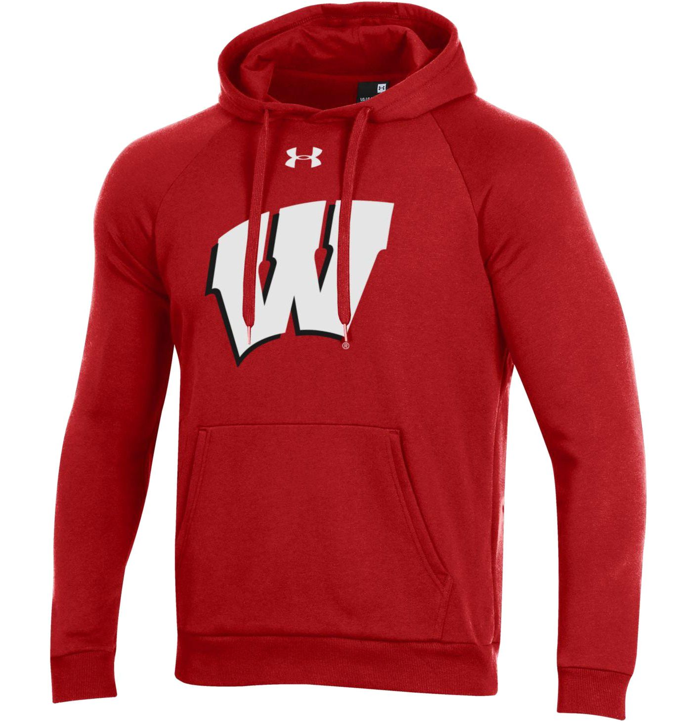 Under Armour Men's Wisconsin Badgers Red All Day Hoodie