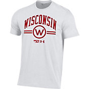 Under Armour Men's Wisconsin Badgers 'CFB150' Performance Cotton Football White T-Shirt