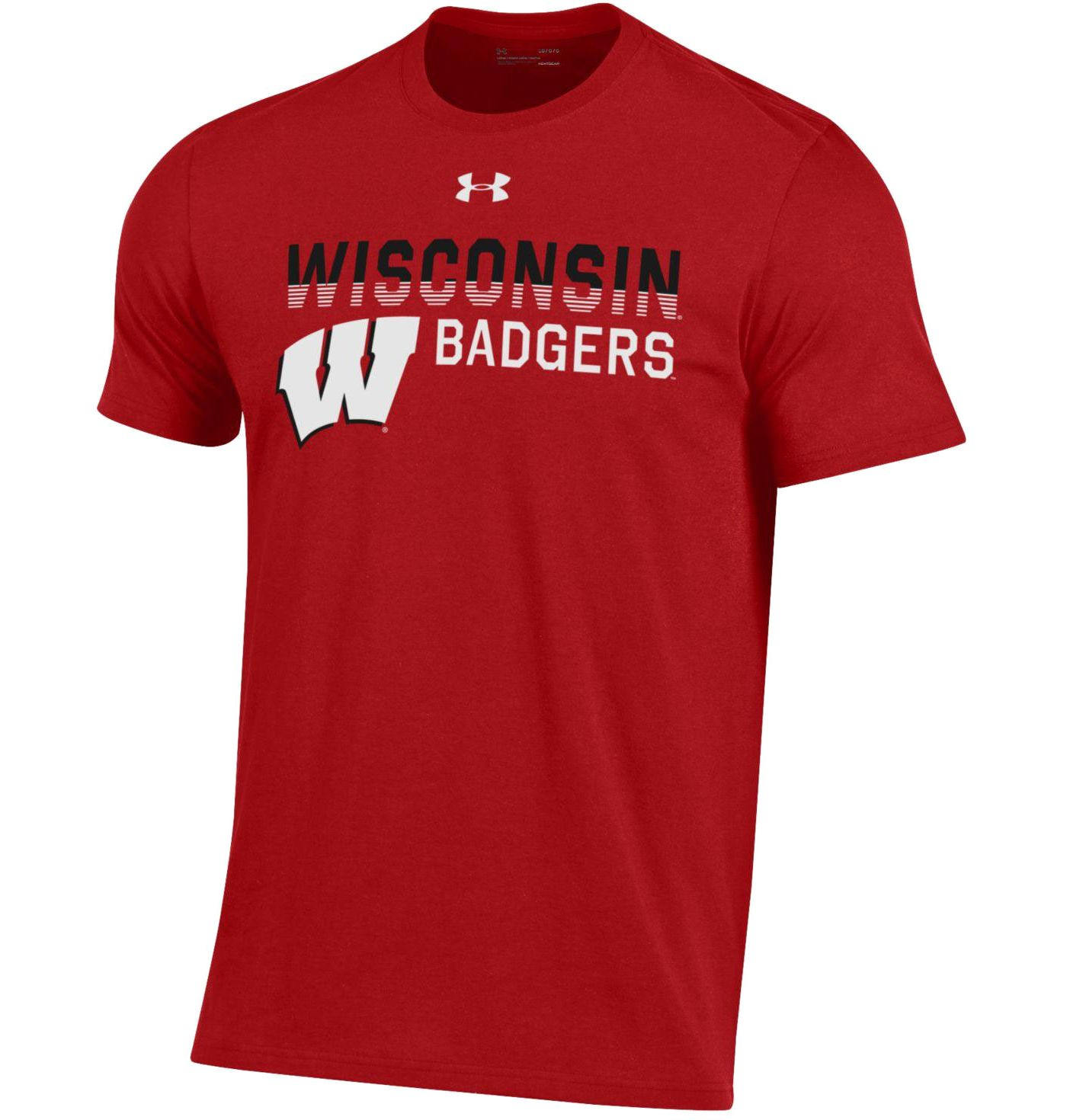 Under Armour Men's Wisconsin Badgers Red Performance Cotton T-Shirt
