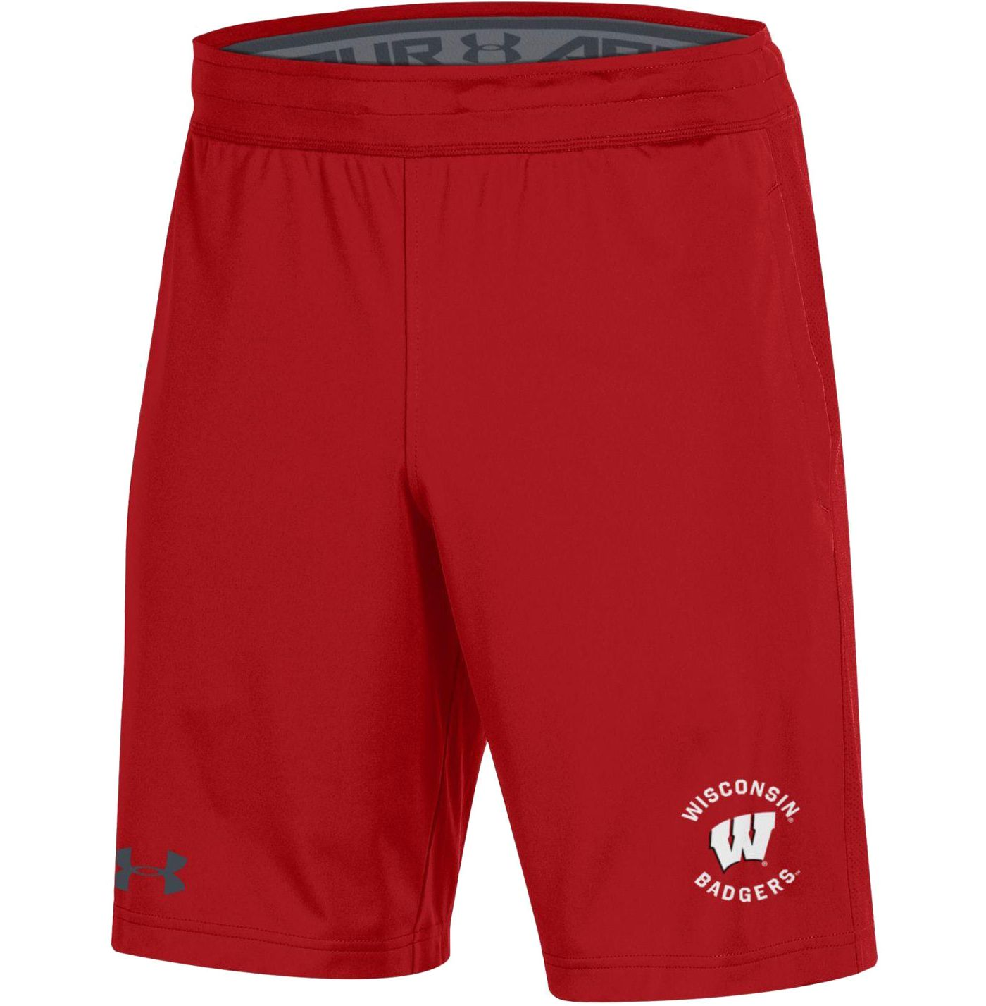Under Armour Men's Wisconsin Badgers Red Raid Performance Shorts