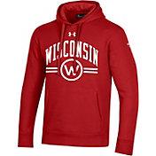 Under Armour Men's Wisconsin Badgers Red Original Pullover Hoodie