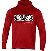 Under Armour Men's Wisconsin Badgers Red Armourfleece Pullover Hoodie