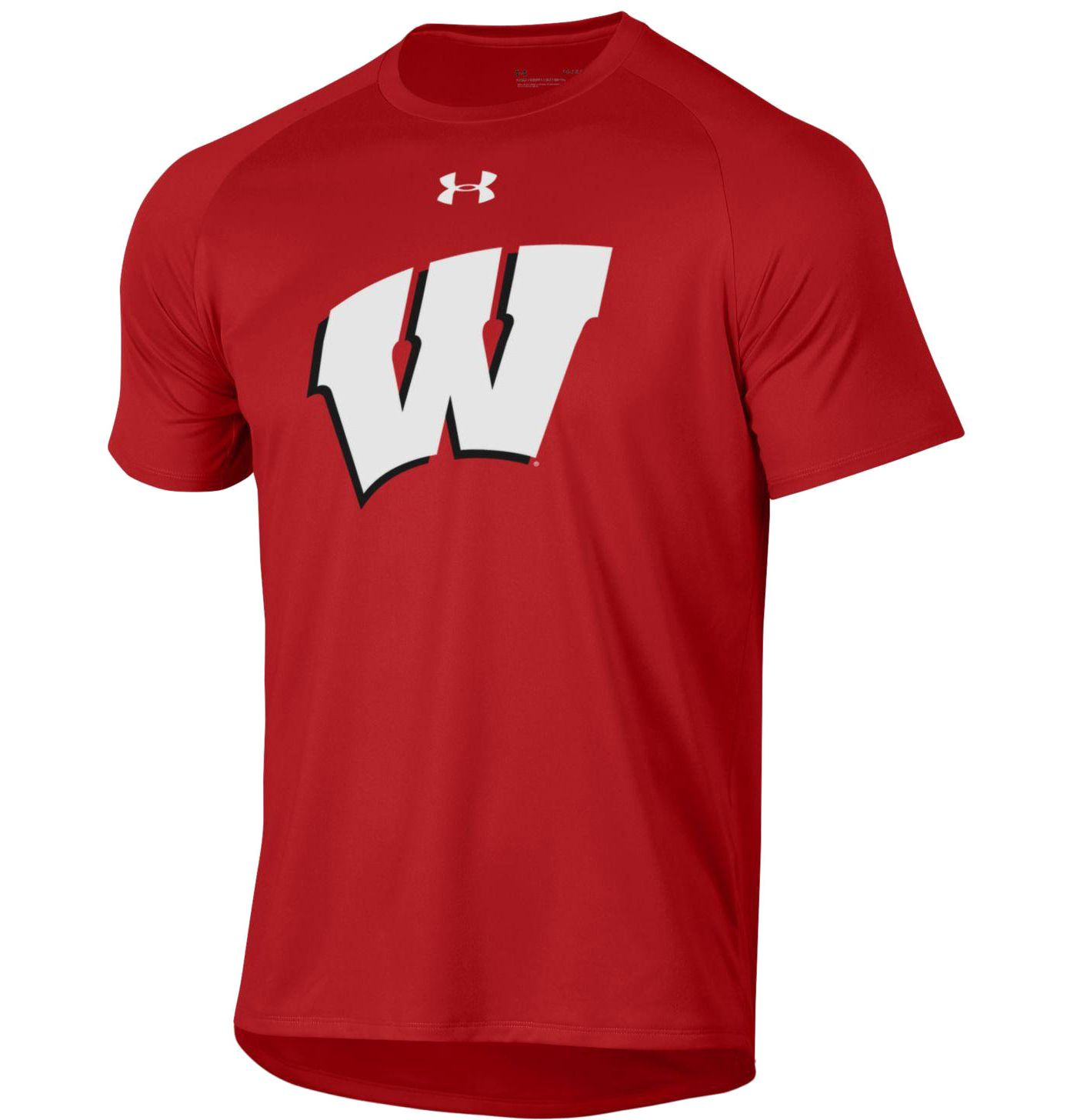 Under Armour Men's Wisconsin Badgers Red Tech Performance T-Shirt
