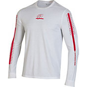 Under Armour Men's Wisconsin Badgers Hype On-Court Long Sleeve Basketball White T-Shirt