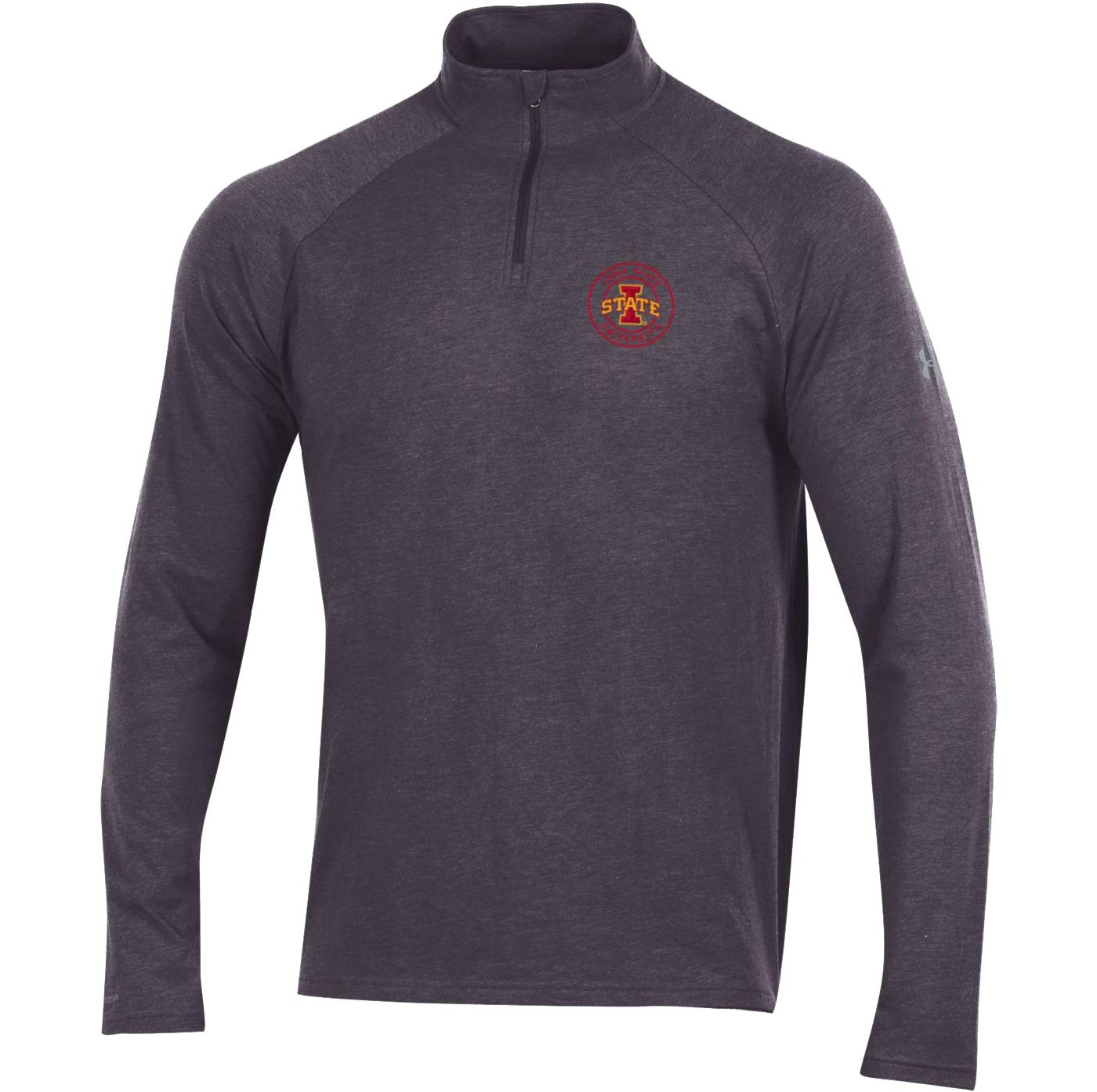 Under Armour Men's Iowa State Cyclones Grey Charged Cotton Quarter-Zip Shirt