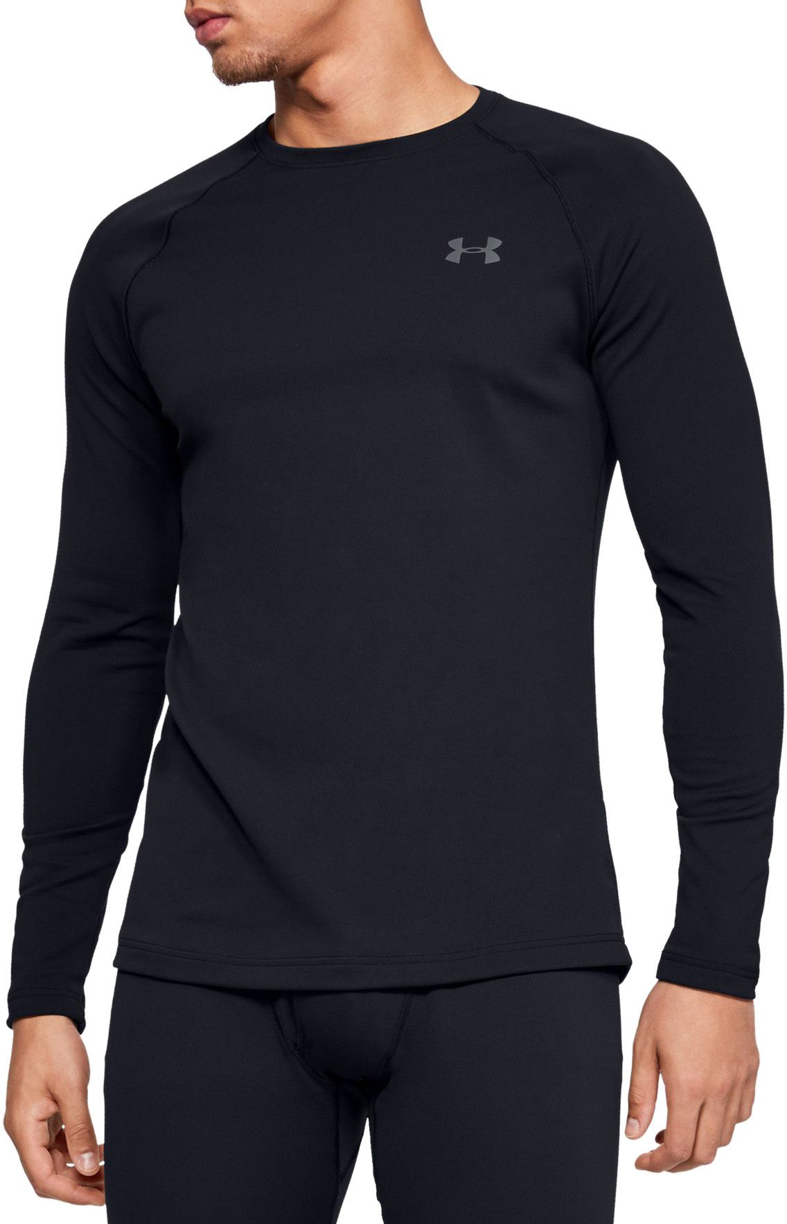 Under Armour Men's Packaged Base 2.0 Crewneck Baselayer, Size: Small, Black